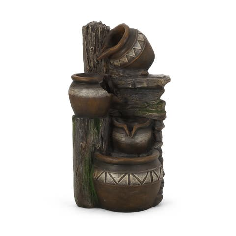 Bartow Outdoor Tier Jar Fountain Outdoor 4 by Christopher Knight Home