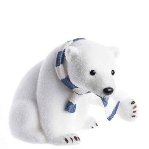 Polar Bear with Blue Scarf