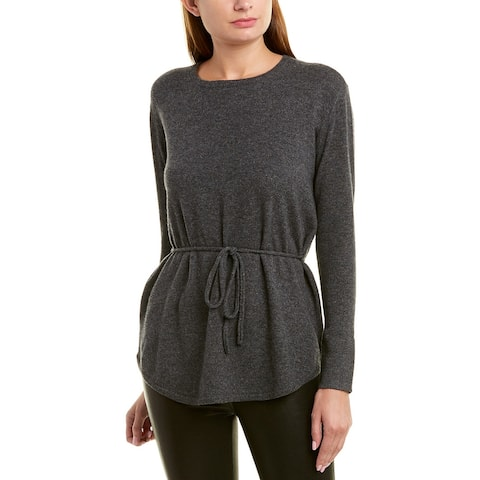 525 America Belted Cashmere Sweater - Charcoal