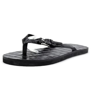 Michael Michael Kors Jocelyn Thong Women Open Toe Leather Black Thong Sandal
