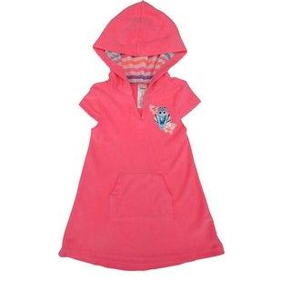 Disney Little Girls Pink Finding Dory Hooded Short Sleeved Cover-Up
