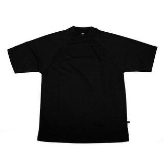 PGA TOUR Men's Tee Shirt - Black Solid - Small