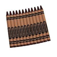 Crayola Bulk Crayons 12 Count Brown