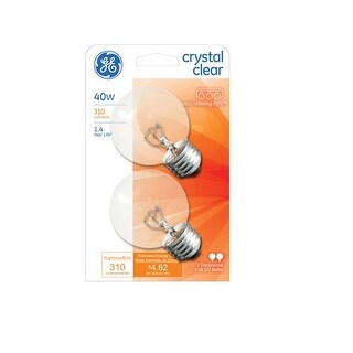 GE 31109 Decorative Globe Light Bulb, 40 Watts, 120 Volt