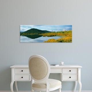 Easy Art Prints Panoramic Image 'Signal Mountain, Oxbow Bend, Tetons, Grand Teton National Park, Wyoming' Canvas Art