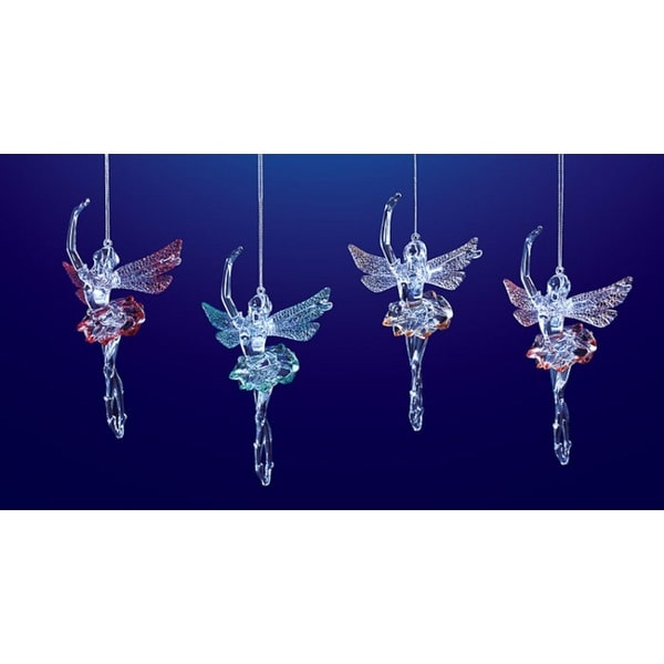 """Club Pack of 16 Icy Crystal Decorative Dancing Fairy Ornaments 8.5"""""""