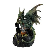 Green Dragon of Crystal Castle Color Changing LED Statue