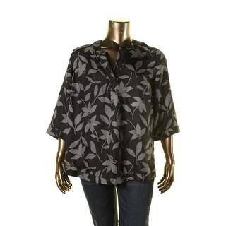 Jones New York Womens Petites Silk Printed Tunic Top - 18wp