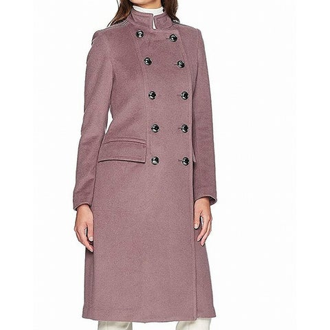 Badgley Mischka Lavender Purple Womens Size XL Double Breasted Coat