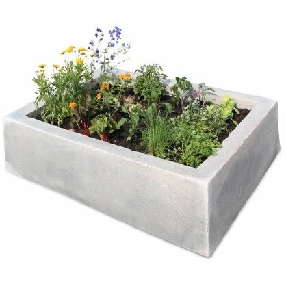 Raised Garden Box, English Castle Grey