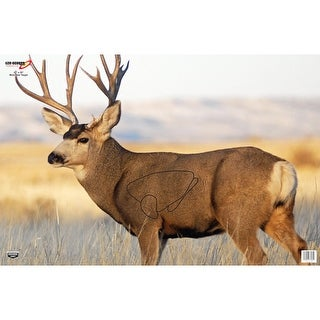 Birchwood casey 37482 b/c target eze-scorer 23x35 mule deer 2 targets