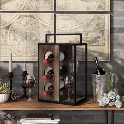 Carson Carrington Aberdour Rustic Reclaimed Oak Wine Rack