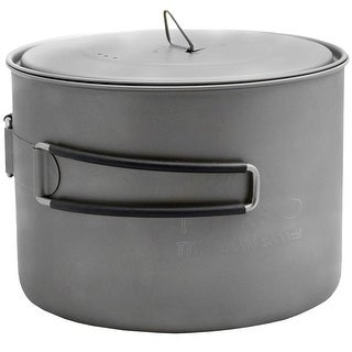 TOAKS 1600ml Ultralight Titanium Camping Cook Pot with Foldable Handles and Lid