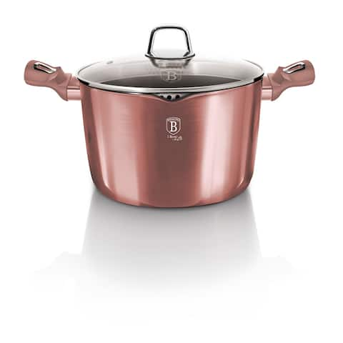 Berlinger Haus Pasta and Rice Pot 6.3 qt with Lid, I-Rose Collection