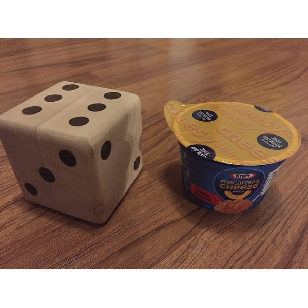 Shop Hey Play Giant Wooden Yard Dice Outdoor Lawn Game Natural