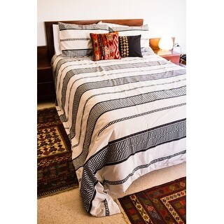 Ink+Ivy Kora Striped Cotton 3-piece Duvet Cover Set