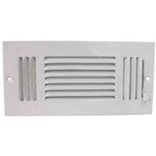 """Mintcraft SW03-10X4 3 Way Sidewall Registers, 10"""" x 4"""", White"""