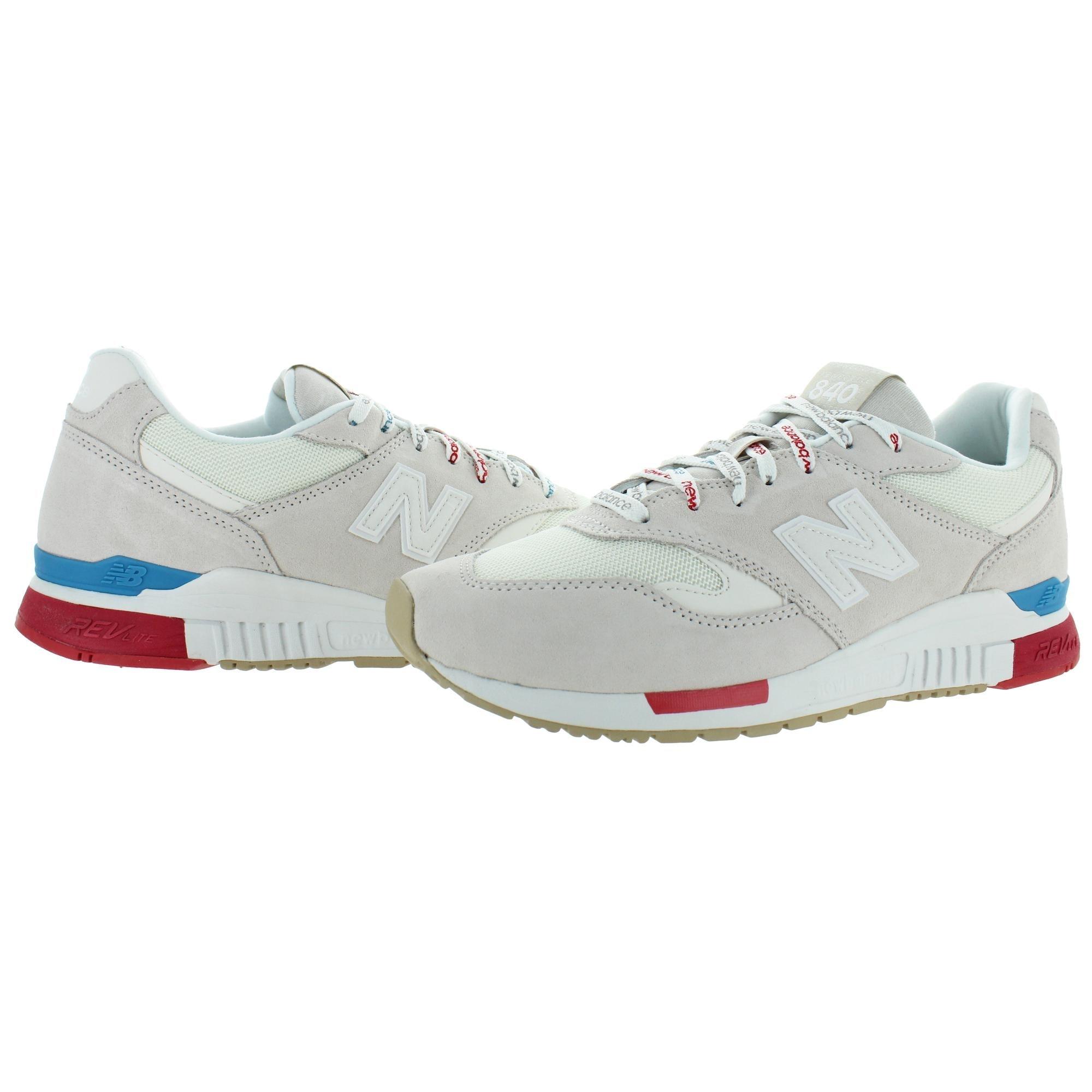 New Balance Womens 840 Sneakers Trainers REVlite - Beige/Red/Blue - 12 Medium (B,M)