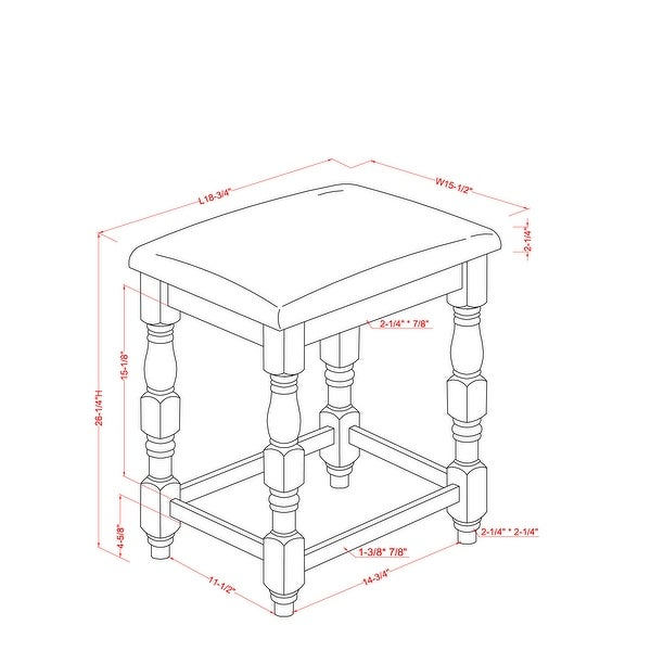 Furniture of America Adagio Farmhouse Counter Height Stool (Set of 2)