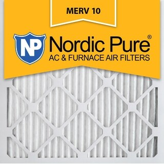 Nordic Pure 18x18x1 Pleated MERV 10 AC Furnace Air Filters Qty 3