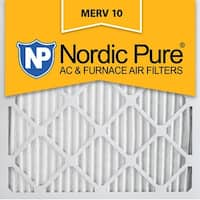 Nordic Pure 20x20x1 Pleated MERV 10 AC Furnace Air Filters Qty 3
