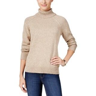 Karen Scott Womens Petites Pullover Sweater Long Sleeve Turtleneck