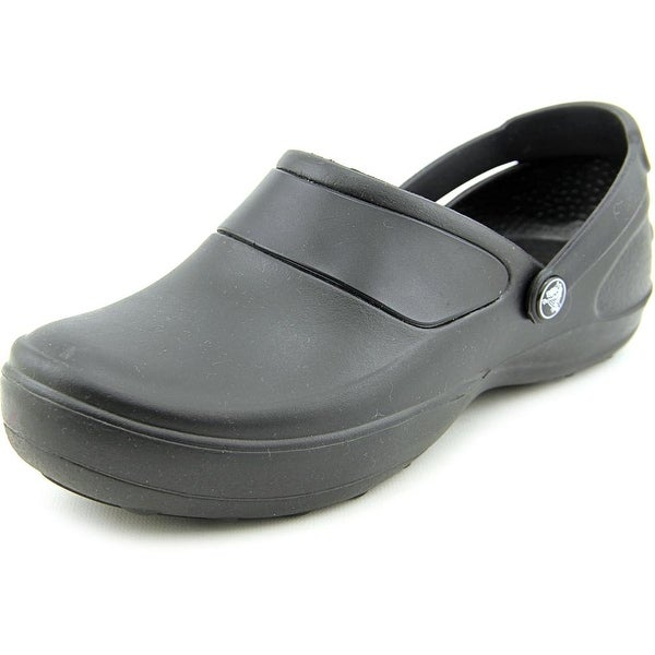 afd17eef7 Shop Crocs Mercy Work Women Round Toe Synthetic Black Clogs - Free ...