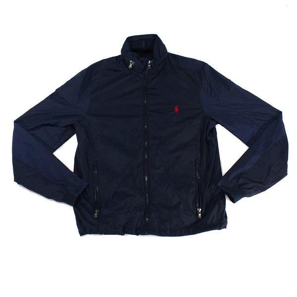 a517ff002d08 Shop Polo Ralph Lauren Blue Navy Mens Size XS Zip Windbreaker Jacket ...