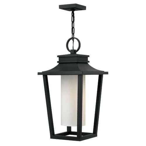"""Hinkley Lighting 1742 Sullivan Single Light 11-3/4"""" Wide Outdoor Pendant with Etched Opal Glass Shade"""