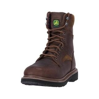 John Deere Work Boots Mens Orthotic Welt Steel Shank Brown