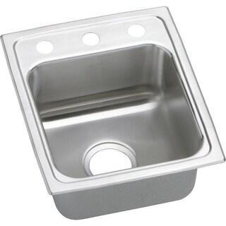 """Elkay LRAD151755 Gourmet 15"""" Single Basin Drop In Stainless Steel Bar Sink"""