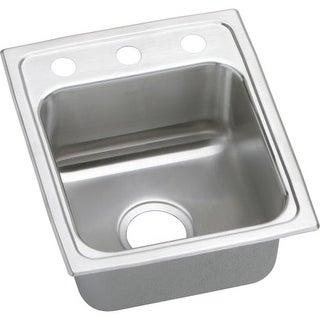 """Elkay LRAD151765 Gourmet 15"""" Single Basin Drop In Stainless Steel Bar Sink"""