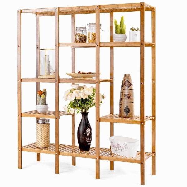 Eco Friendly Bamboo 4 Shelf Bookcase Storage Rack
