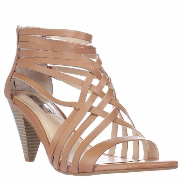 I35 Garoldd Strappy Heeled Sandals, Honey