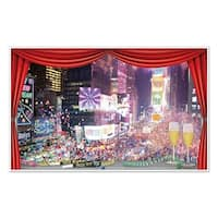 """Pack of 6 New Year's Eve Insta-View Wall Decorations 62"""" - Multi"""