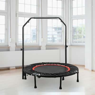 """40"""" Fitness Trampoline with C Handrail"""