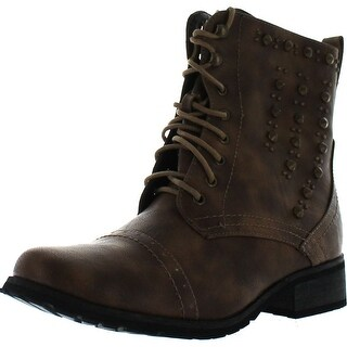 Reneeze Alice-06 Women's Combat Boots- Khaki