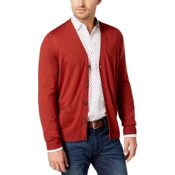 7d08477880 Shop Michael Kors Mens Cardigan Sweater Merino Wool Lightweight - L ...