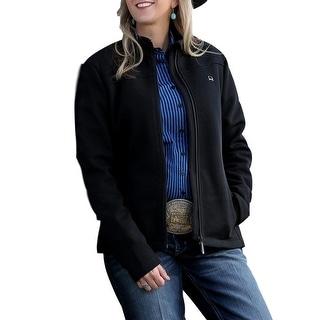 Cinch Western Jacket Womens Sweater Fleece Zip Black MAJ7810001