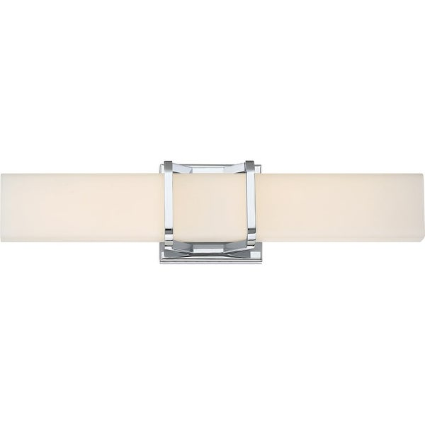 """Platinum PCAS8520 Axis LED 20"""" Wide Bathroom Bath Bar with Patterned/Etched Glass - Polished chrome"""