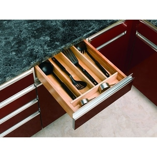 """Rev-A-Shelf 4WUT-1 4WUT Series 18-1/2"""" Wide Trimmable Utility Tray - Natural Wood"""