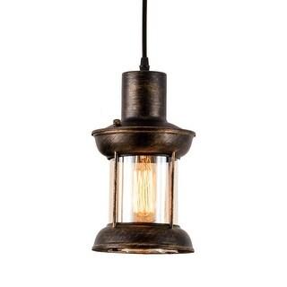 Single industrial glass drop light,vintage hanging edison pendant light fixture - Rust