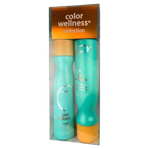 Malibu Color Wellness Shampoo and Conditioner Duo 9 oz each 100% Vegan - Clear