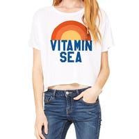 Vitamin Sea Ocean Power Women's White Flowy Boxy Tee