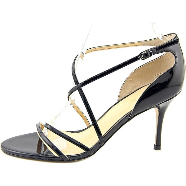 Ivanka Trump Womens Garis Leather Open Toe Ankle Strap D-orsay Pumps