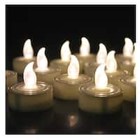 AGPtek 60 PCS Battery Operated Flameless LED Tealights Candles - Warm white