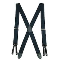 CTM® Men's Elastic Basic X-Back Button-End Suspenders - One size