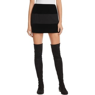 Bailey 44 Womens Mini Skirt Velvet Shadow Stripe