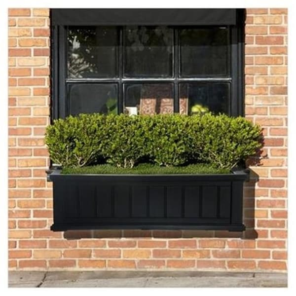 Shop Mayne 4840 B Cape Cod Window Box 3ft Black Free Shipping