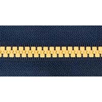 Navy & Gold - Team Spirit Separating Zipper 26""